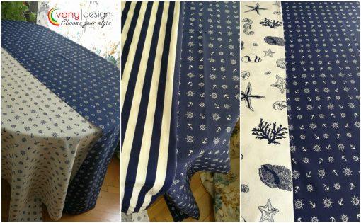 Правоъгълна покривка за маса Рае синьо и бяло Vany Design