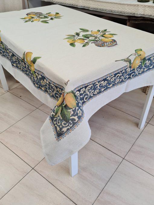 Арт колекция - Покривка за маса 140/180 - Лимони