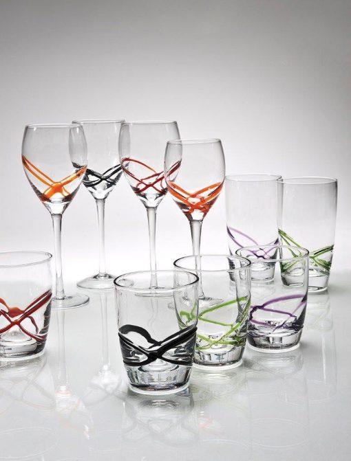 Комплект 6 чаша за уиски - 350 мл серия: X - tream Orange