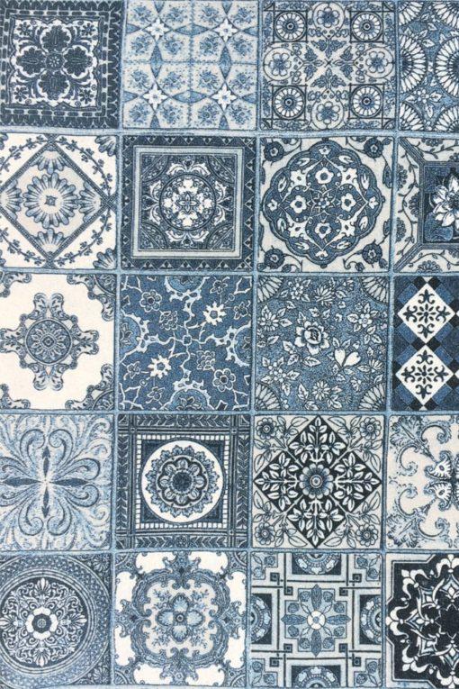 Плат Печат Лонета 60% пам. / 40% пол - Ceramica  - Azul