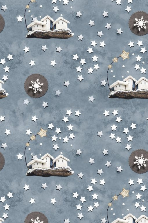 Плат панама с дигитална щампа - Frosty - C