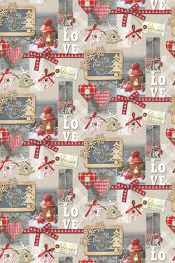 Плат Панама с Дигитална щампа - Christmas - Eve - A