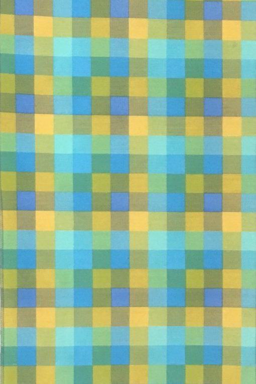 Плат Печат Лонета 60% пам. / 40% пол - Bulycuar - Azul