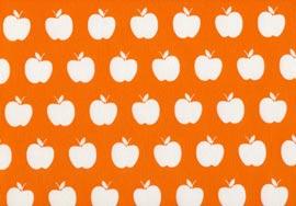 Плат панама с дигитална щампа - apples-naranja-negativo