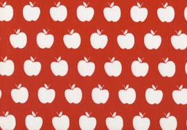 Плат Лонета 60% пам. / 40% пол - apples-rojo-negativo